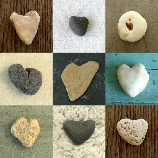 New family tradition. When at the beach the whole family goes on a walk looking for stones shaped like hearts. They display the stones throughout their home and  each family member keeps one on their person wherever they go.