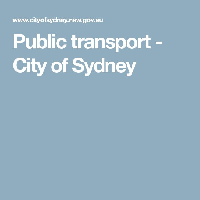 Public transport - City of Sydney