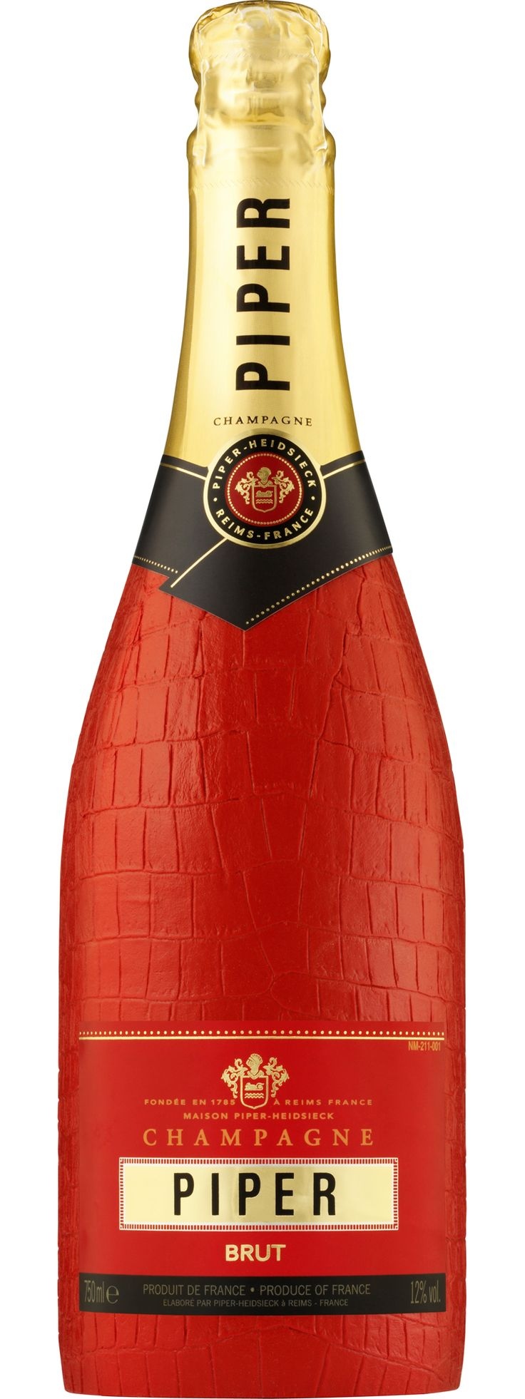 piper champagne | Piper-Heidsieck Cuvée Brut Limited Faux Crocodile Skin Edition…