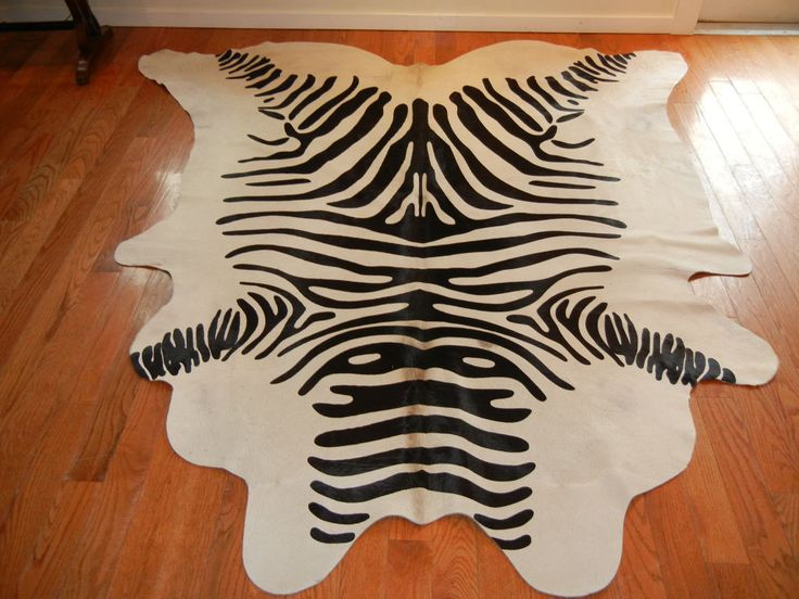 Polypropylene Rugs Large Zebra Print Steer Hide Area Rug