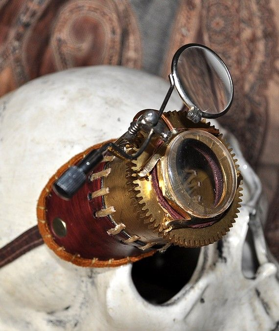 Steampunk - teh quintessential monocle... though  most do not really  attract me... more feminine https://www.steampunkartifacts.com/collections/steampunk-glasses