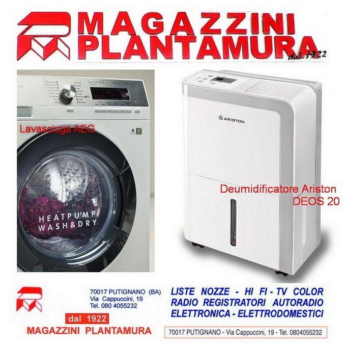 Magazzini Plantamura a Putignano presenta i nuovi e comodissimi apparecchi lavasciuga salva-tempo e i deumidificatori: un grande aiuto in casa soprattutto d'inverno