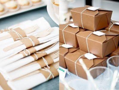 10 Kraft Boxed Lunch Kits Paper Box Custom Menu Tag by susanefird