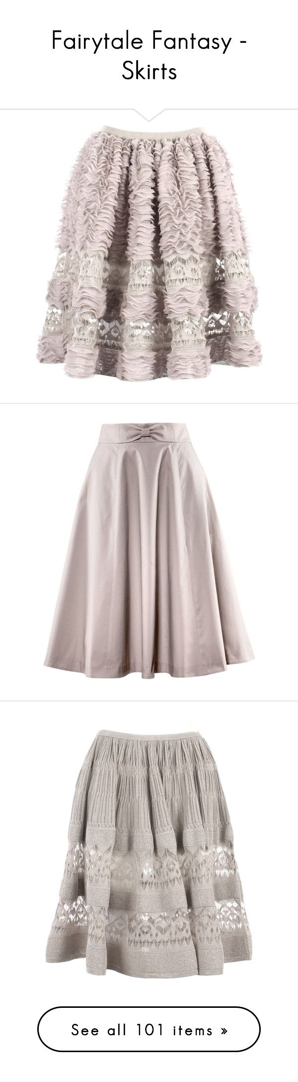 """""""Fairytale Fantasy - Skirts"""" by metalheavy ❤ liked on Polyvore featuring skirts, bottoms, saias, gonne, alaia skirt, ruffle skirt, pink ruffle skirt, frilly skirt, pink skirt and faldas"""