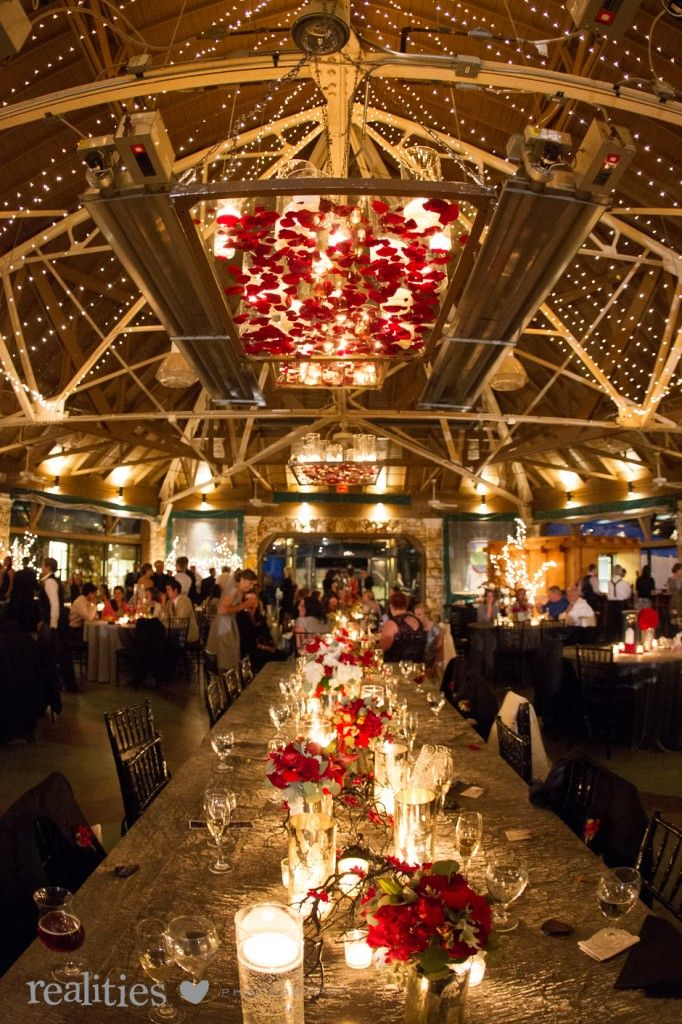 Crest Pavilion Wedding Reception Asheville NC Flowers Blossoms Photo Credit Realities Photography