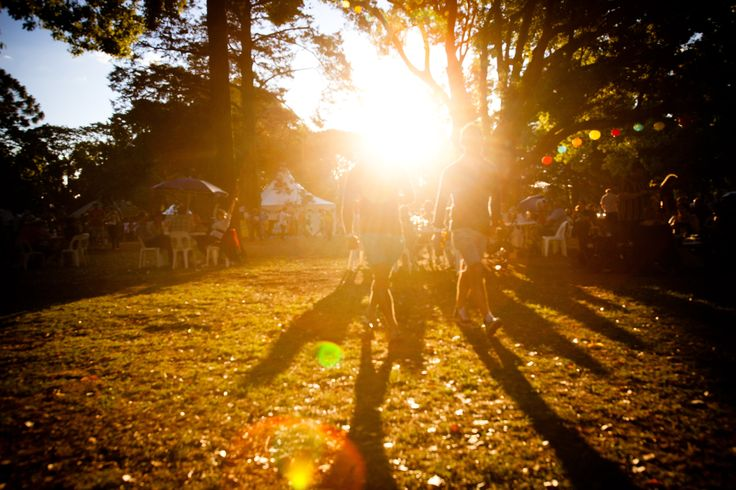 Sunset at Ergon Energy Flower Food and Wine Festival 2012.