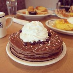 Image result for chocolate chocolate chip pancakes ihop copycat recipe