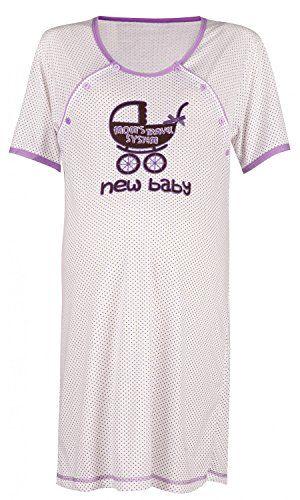 Happy Mama. Donna Prémaman new baby Camicie da Notte a Pois Allattamento. 021p…