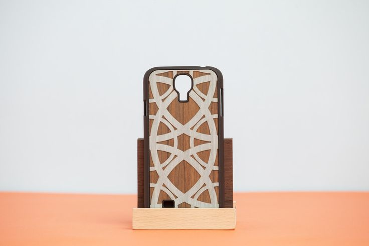 """Cover Samsung """"DOUBLE ESSENCE"""" Cabret - Light Blue // Wood'd #woodd"""