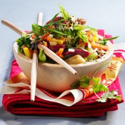 Wok de légumes asiatiques et gésiers confits -recette de Wok de légumes asiatiques et gésiers confits - Cahier de cuisine