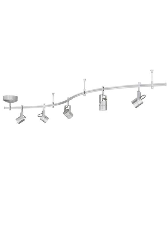 View the Tech Lighting 800RAL5FCN Tiella 5 Light Focus Rail Kit with 100 Watt Surface Transformer at LightingDirect.com.