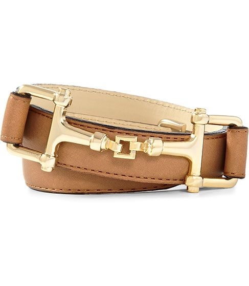 """If your budget doesn't included Gucci, the Reiss """"Weller"""" has a similar look with this horse bit buckle"""