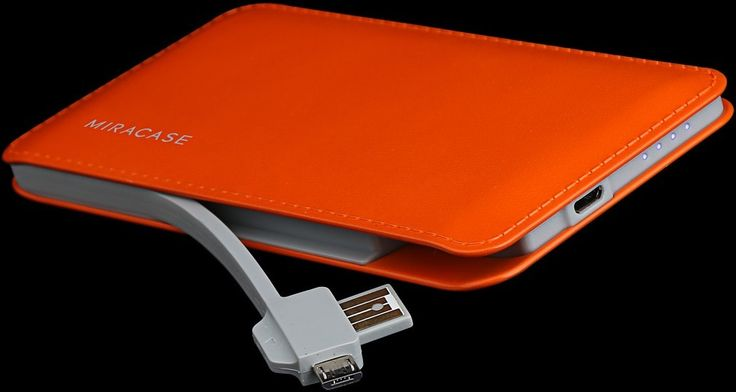 Click here to order online – http://www.themobilestore.in/accessories/miracase-pike-6000-mah-portable-charger-orange.html  Miracase Pike 6000 mAh portable charger.