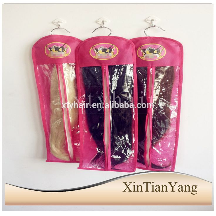 Best selling products hot new products for 2015 Custom pink color hair packaging for hair extensions