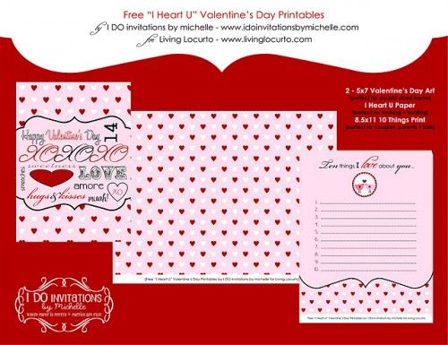 free printable valentine cards and love notes