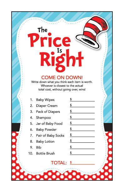 Instant Download Dr. Seuss Theme Baby Shower by Studio20Designs