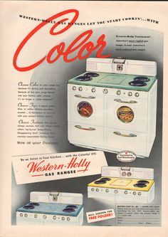 Love these vintage stoves!
