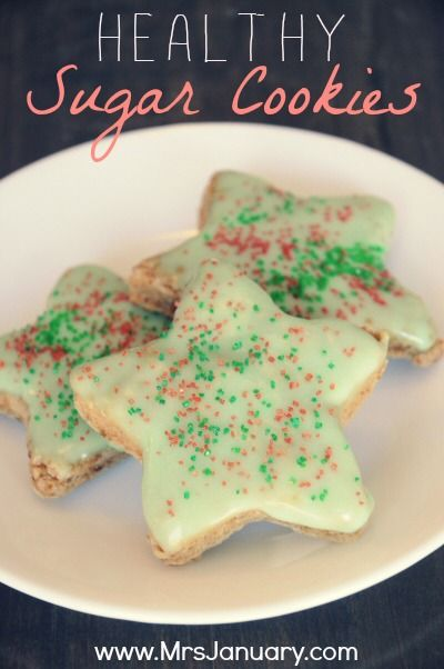 Raise your hand if you love sugar cookies! Did you know that you can make sugar cookies with no butter, no egg, and very (VERY) little sugar? You can, and this recipe will show you how! (These cookies are amazingly delicious - just as good as regular sugar cookies!)