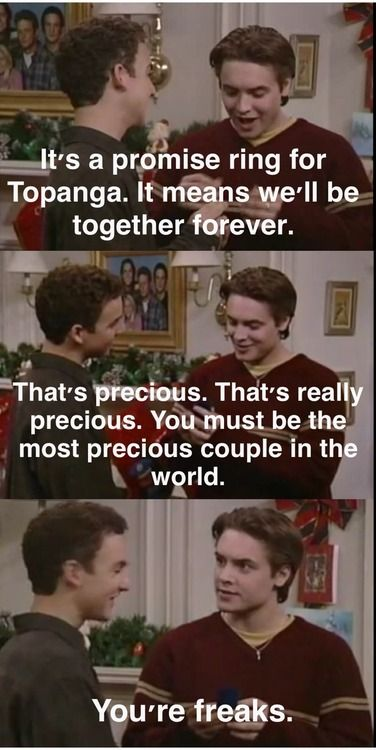 I LOVE boy meets world!! this is from one of my favorite episode too...