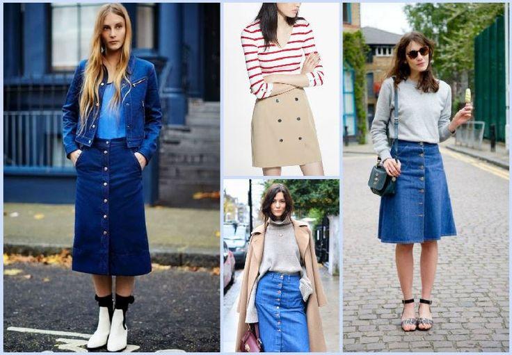 İlkbahar yaz modası düğmeli etekler 2015