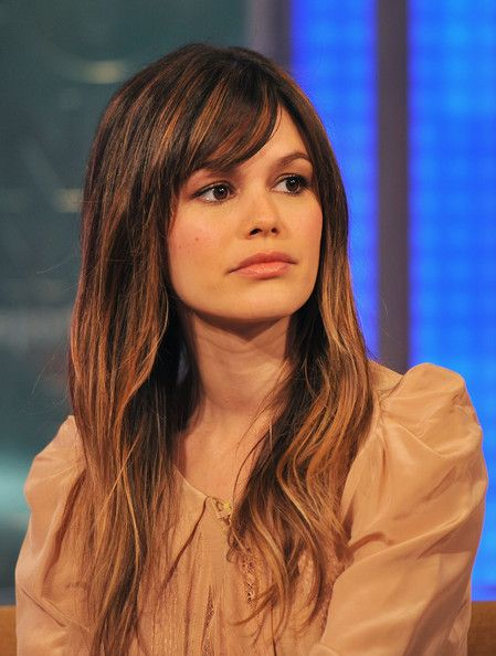 Rachel bilson long hair hairstyle brown natural highlights ...
