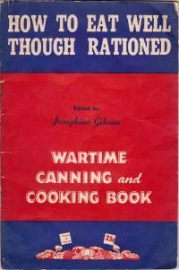 Recipes | Wartime Canada- great pdf cookbook!