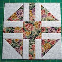 "Free Quilt Block Patterns: Paths and Stiles Quilt Block Pattern - 9"" Blocks"