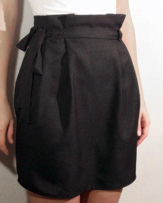 Paper bag skirt sewing pattern