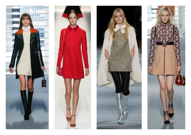 Back to the '60s με μίνι φορέματα σε Α γραμμή, μπότες λουστρίνι με τετράγωνο τακούνι και eyeliner αλά Έντι Σέτζγουικ. ω