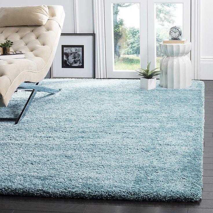 3u0027 x 5u0027 ultra soft aqua blue shag rug comfy