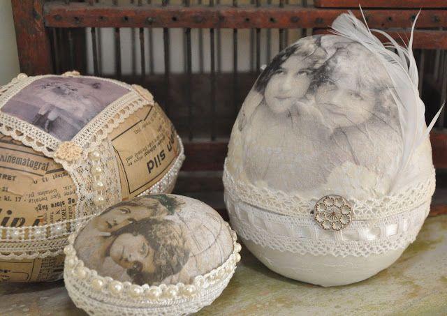 Vintage Easter eggs/altered eggs
