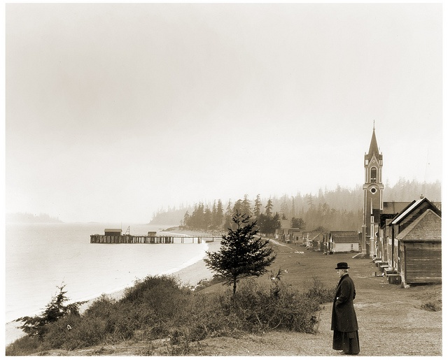 Indian Mission, Sechelt, BC, April 16, 1924. Leonard Frank photograph