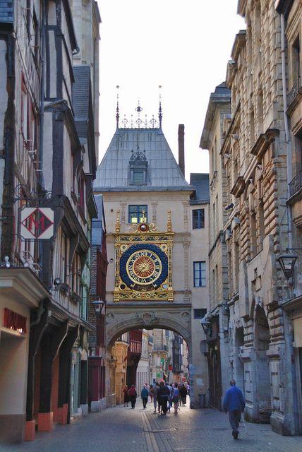 Rue du Gros-Horloge, Rouen , France  - for more inspiration visit http://pinterest.com/franpestel/boards/