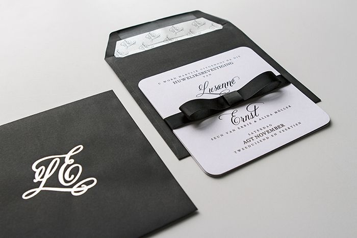 Minted black tie: Lusanne and Ernst's wedding as featured on Wedding Album magazine's website.