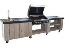 Gerüstküche aus Holz im Freien – aubenkuche.todaypin.com