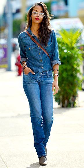 Denim on denim done right. My style