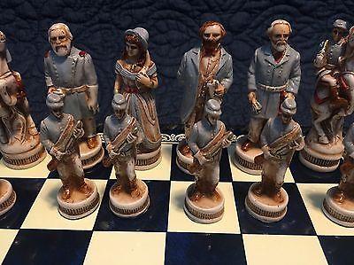 Nigri Battle of Gettysburg Rare Chess Set - Hand Carved - NEW
