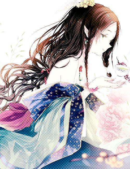 anime edit Anime girl kimono tea ceremony