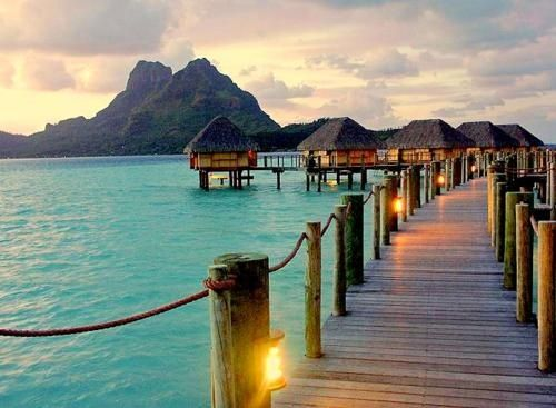 Bora Bora... because sleeping over the ocean is way cooler than sleeping on land. #myforeverdream