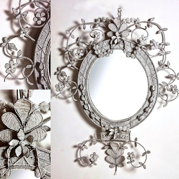 Madam Mirror for Curate Collection - hand beaded and by Michael Chandler for Justin Van Breda London