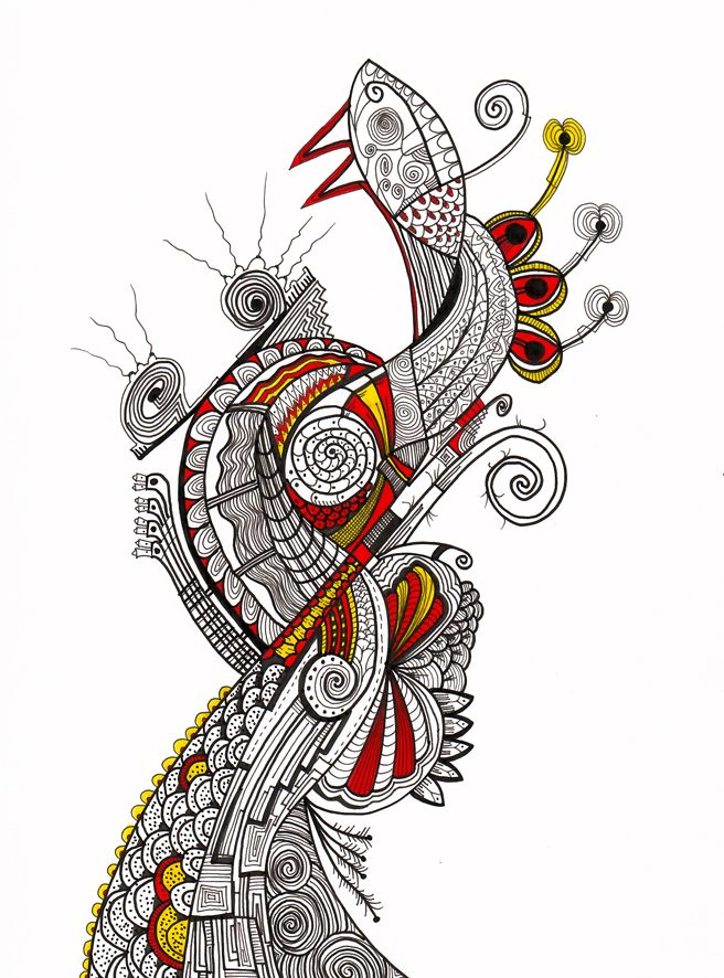 """Comadreja"" Serie Animales e Insectos Tintas-color sobre cartulina Año: 2008"