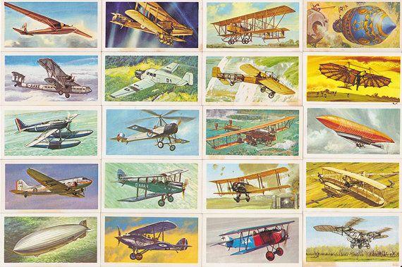 Brooke Bond Tea Cards History of Aviation by StuArtIllustration