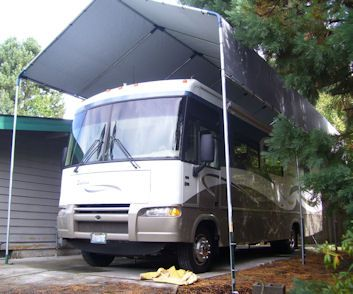 80 best diy build your own rv or boat portable carport for Boat garage kits