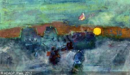 oluf høst Solnedgang over Østerlars