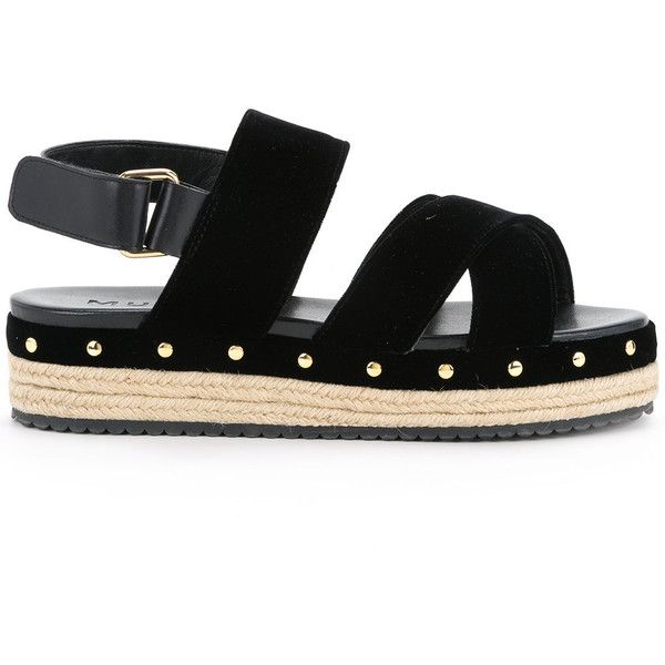 Muveil open toe criss-cross sandals ($448) ❤ liked on Polyvore featuring shoes, sandals, black, kohl shoes, open toe sandals, criss cross shoes, black sandals and crisscross sandals
