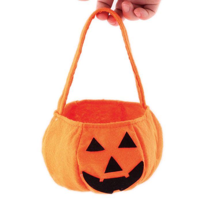 Cute Smile Pumpkin Candies Bag Kids Candy Sugar Bag Handbag Halloween Holiday Gift storage bags for festival party #555