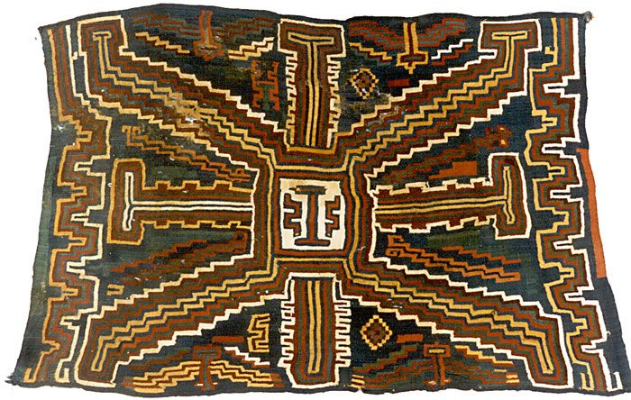 Another fine example of early weaving from Nazca, the coastal plain of southern Peru (c. 200 BC - 600 AD)