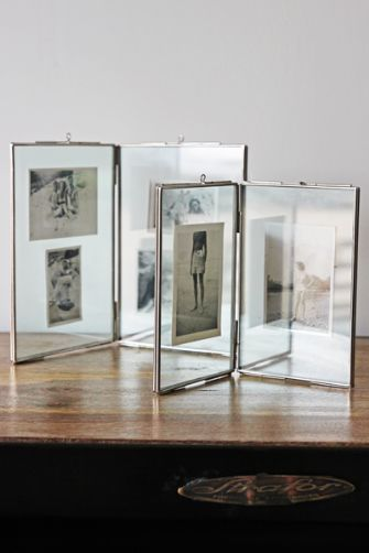 glass double photo frames