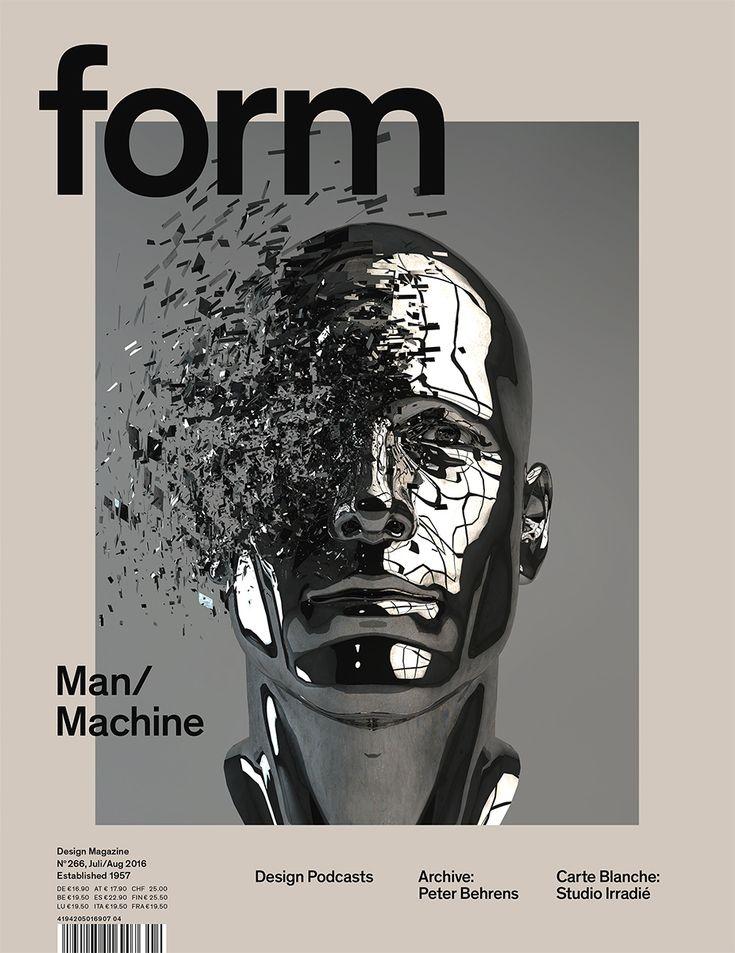 form N° 266. 2016. Man/Machine. Art Direction: Carolin Blöink, Susanne Heinlein, Sarah Schmitt; illustration: Grégoire A. Meyer © Verlag form GmbH & Co. KG