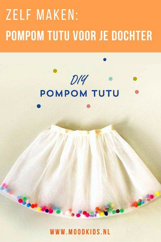 A tutu can make in 30 minutes!  Is your daughter a real ballerina?  Then create a tulle tutu.  Steal the show with this festive pompom tutu!  Watch the tutorial